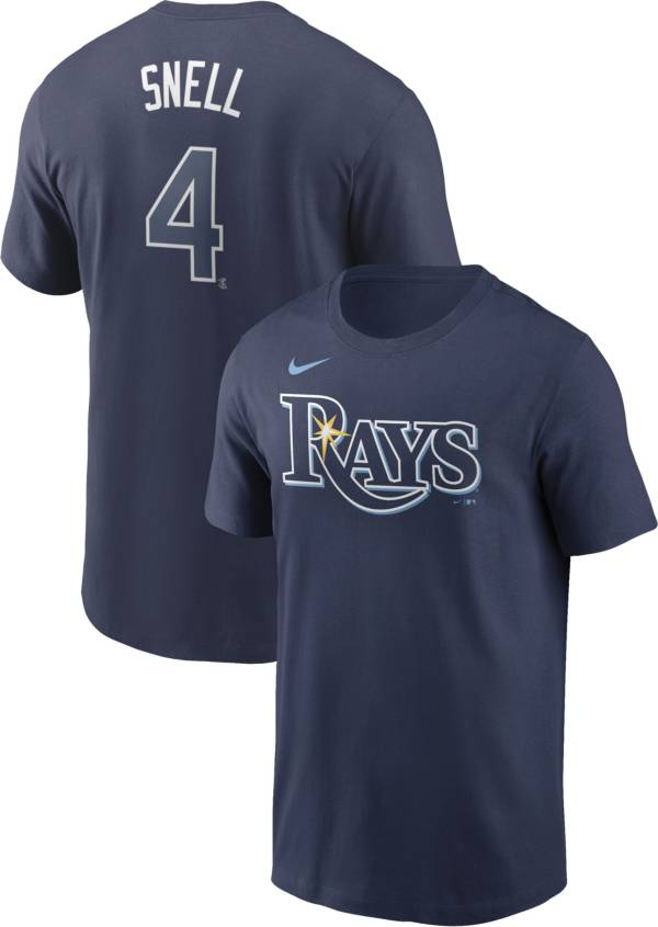 Nike Men's Tampa Bay Rays Blake Snell #4 Navy T-Shirt product image