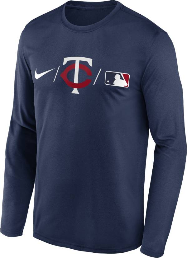 Nike Men's Minnesota Twins Navy Authentic Collection Legend Long Sleeve T-Shirt product image