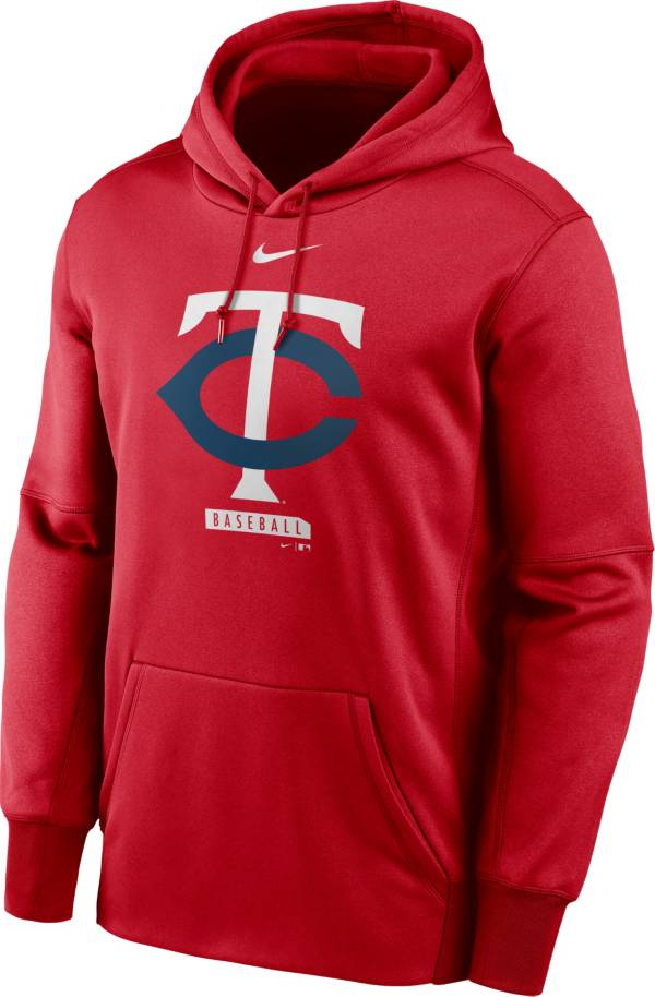 Nike Men's Minnesota Twins Red Therma Logo Pullover Hoodie product image
