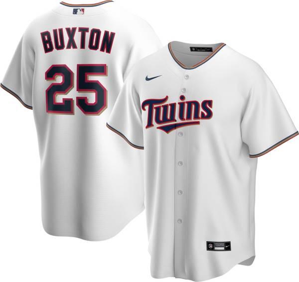 Nike Men's Replica Minnesota Twins Byron Buxton #25 White Cool Base Jersey product image