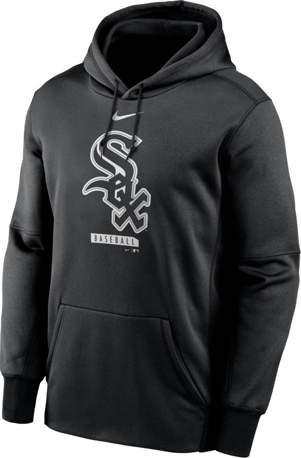 Nike Men's Chicago White Sox Black Therma Logo Pullover Hoodie product image