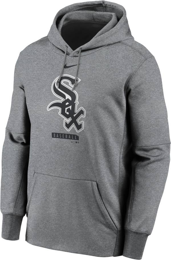 Nike Men's Chicago White Sox Grey Therma Logo Pullover Hoodie product image