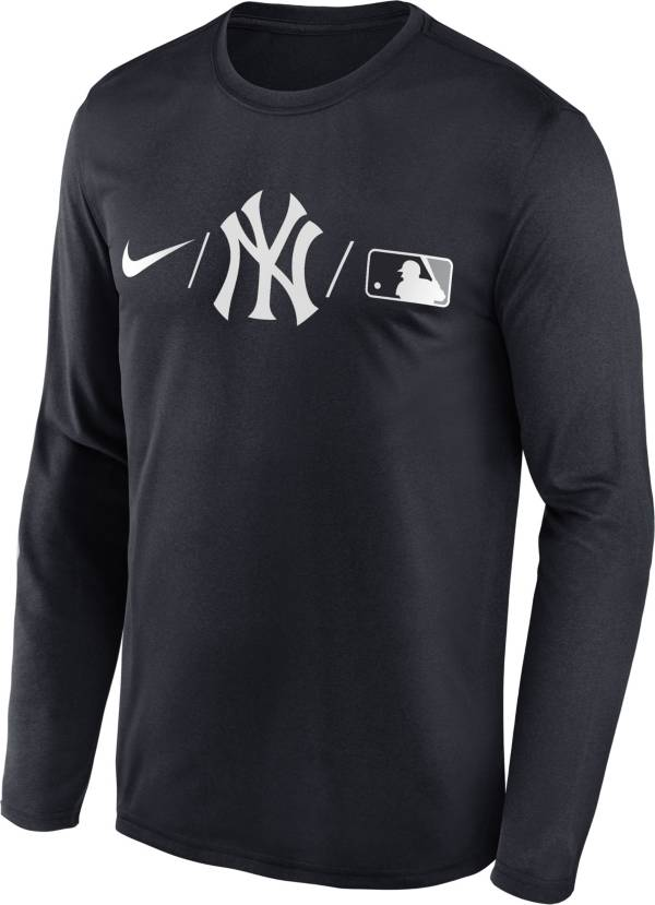 Nike Men's New York Yankees Blue Authentic Collection Legend Long Sleeve T-Shirt product image