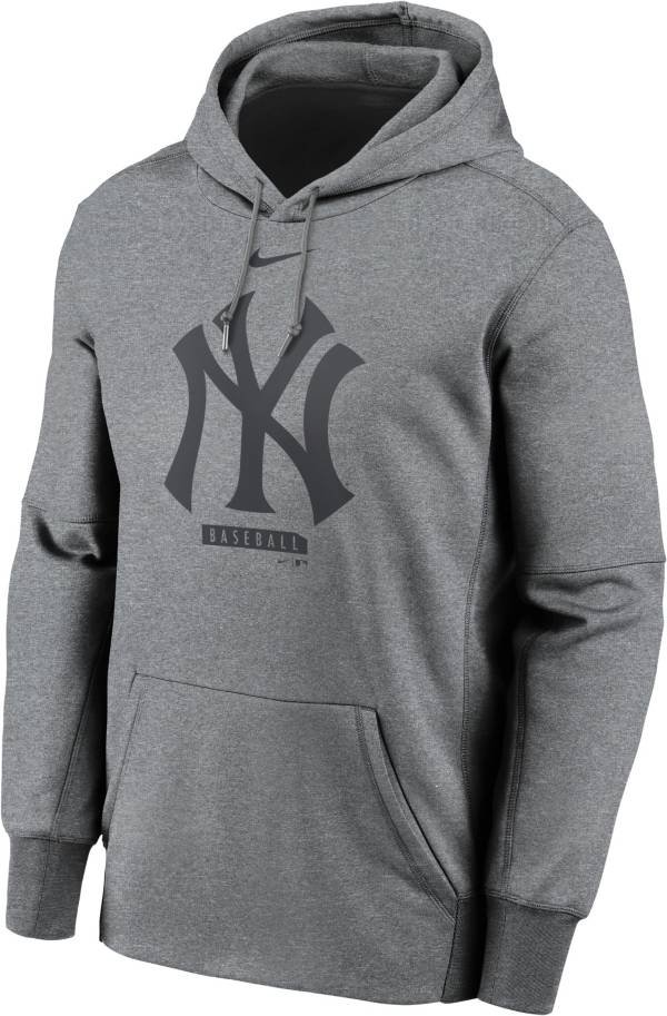 Nike Men's New York Yankees Grey Therma Logo Pullover Hoodie product image