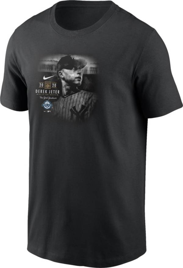 Nike Men's New York Yankees Derek Jeter 2020 Hall of Fame Black T-Shirt product image