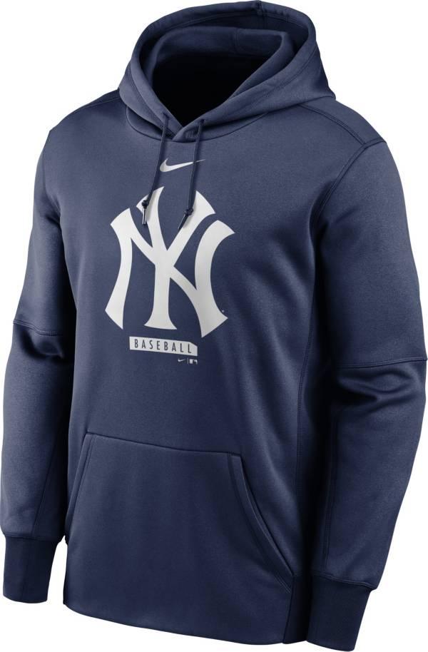 Nike Men's New York Yankees Navy Therma Logo Pullover Hoodie product image