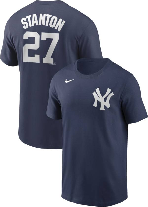 Nike Men's New York Yankees Giancarlo Stanton #27 Navy T-Shirt product image