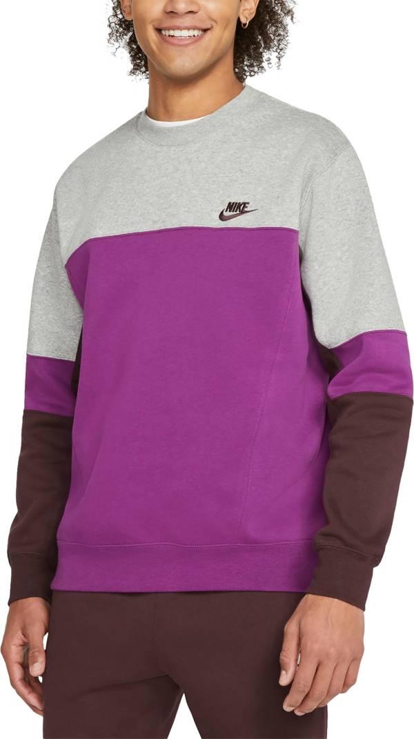 Nike Men's Sportswear Club Fleece Colorblock Crewneck Sweatshirt product image