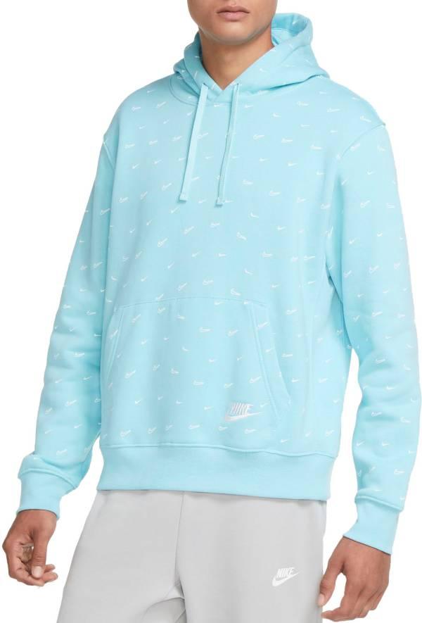 Nike Men's Sportswear Club Fleece Swoosh Allover Print Pullover Hoodie product image