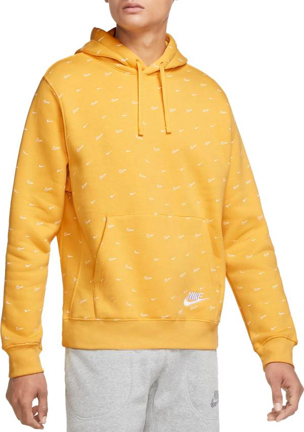 Nike Men's Sportswear Club Fleece Swoosh Allover Print Pullover Hoodie product image