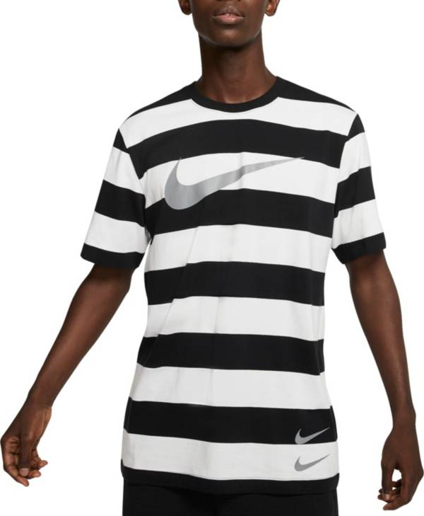 Nike Men's Sportswear Striped Swoosh T-Shirt product image