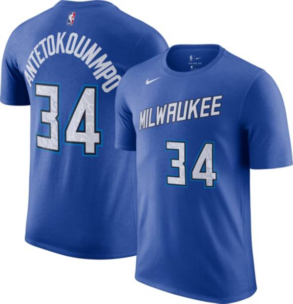 Nike Men's 2020-21 City Edition Milwaukee Bucks Giannis Antetokounmpo #34 Cotton T-Shirt product image