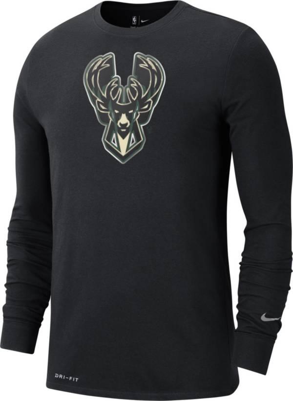 Nike Men's Milwaukee Bucks 2021 Earned Edition Long Sleeve T-Shirt product image