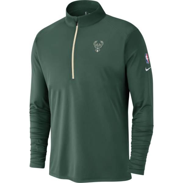 Nike Men's Milwaukee Bucks Green Element Quarter-Zip product image