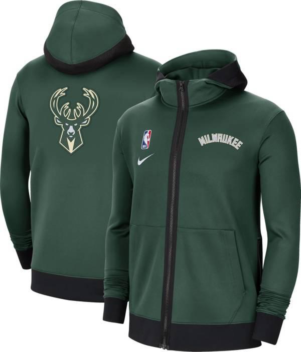 Nike Men's Milwaukee Bucks Black Therma Flex Full-Zip Hoodie product image