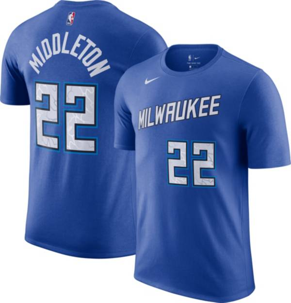 Nike Men's 2020-21 City Edition Milwaukee Bucks Khris Middleton #22 Cotton T-Shirt product image