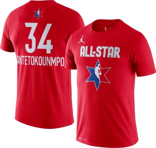 Jordan Men's 2020 NBA All-Star Game Giannis Antetokounmpo Dri-FIT Red T-Shirt product image