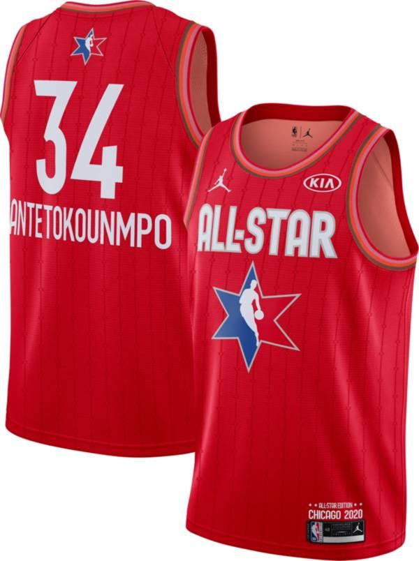 Jordan Men's 2020 NBA All-Star Game Giannis Antetokounmpo Red Dri-FIT Swingman Jersey product image
