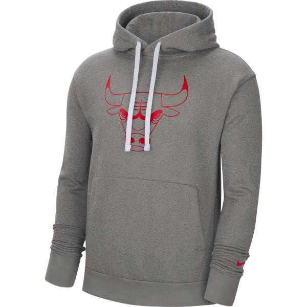 Nike Men's Chicago Bulls Grey Pullover Hoodie product image