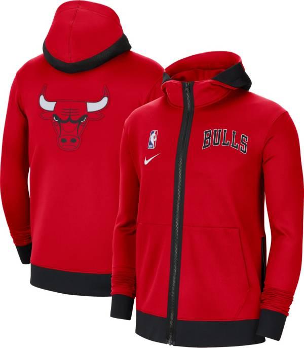 Nike Men's Chicago Bulls Red Therma Flex Full-Zip Hoodie product image