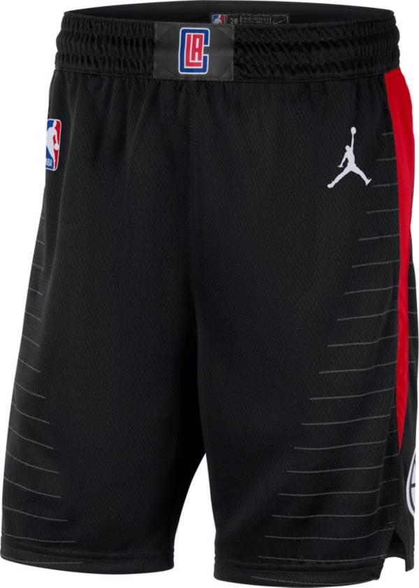 Jordan Men's Los Angeles Clippers Dri-FIT Statement Swingman Black Shorts product image