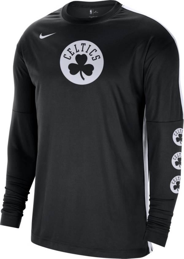 Nike Men's Boston Celtics Black Tonal Dri-FIT Long Sleeve Shooting Shirt product image