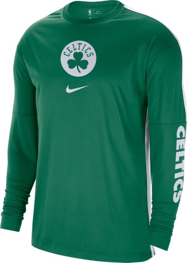 Nike Men's Boston Celtics Green Dri-FIT Long Sleeve Shooting Shirt product image
