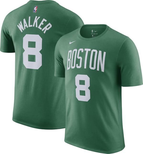 Nike Men's Boston Celtics Kemba Walker #8 Green Cotton T-Shirt product image