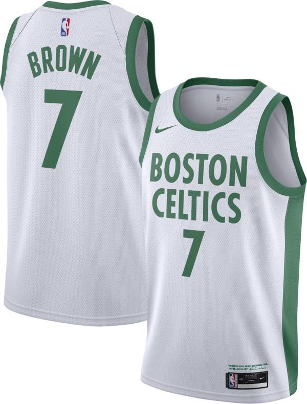 Nike Men's 2020-21 City Edition Boston Celtics Jaylen Brown #7 Dri-FIT Swingman Jersey product image