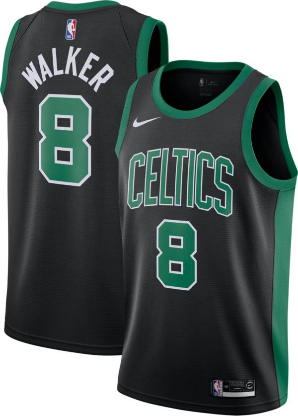 Nike Men's Boston Celtics Kemba Walker #8 Black Dri-FIT Statement Swingman Jersey product image