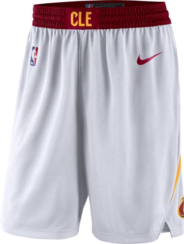 Nike Men's Cleveland Cavaliers White Dri-FIT Swingman Shorts product image