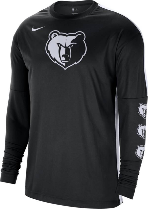 Nike Men's Memphis Grizzlies Black Tonal Dri-FIT Long Sleeve Shooting Shirt product image