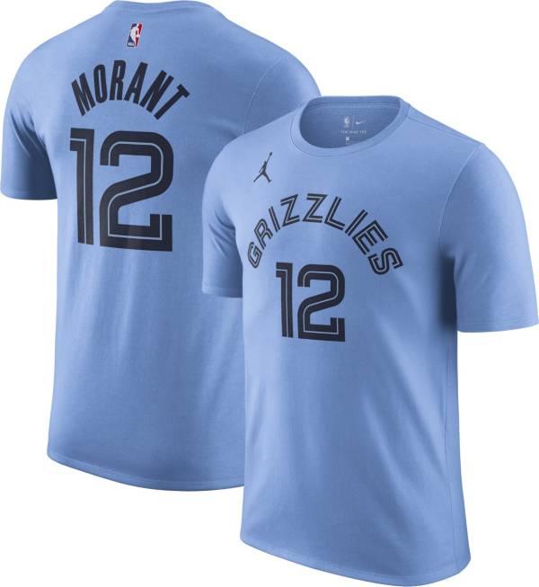 Jordan Men's Memphis Grizzlies Ja Morant #12 Blue Statement T-Shirt product image