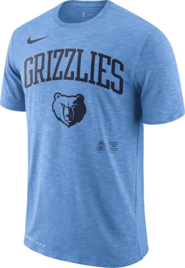 Nike Men's Memphis Grizzlies Dri-FIT Arch Wordmark Slub T-Shirt product image