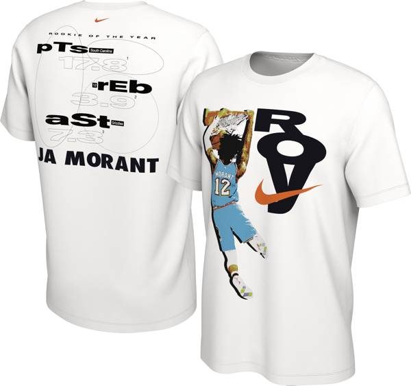 Nike Men's Memphis Grizzlies Ja Morant Rookie of the Year White T-Shirt product image