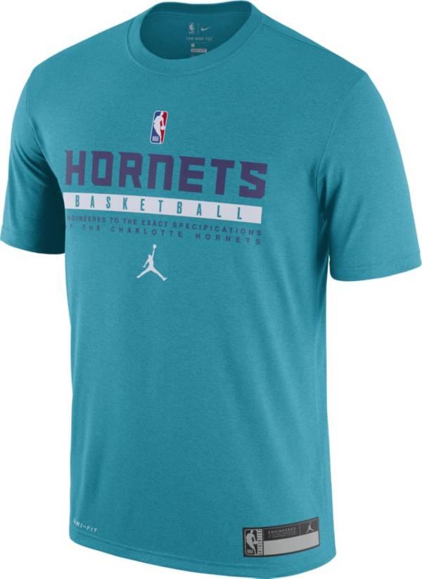 Jordan Men's Charlotte Hornets Teal Dri-FIT Practice T-Shirt product image