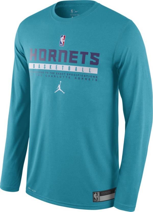 Jordan Men's Charlotte Hornets Dri-FIT Practice Long Sleeve Shirt product image
