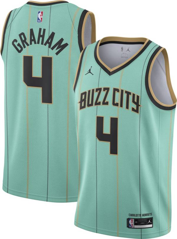 Jordan Men S 2020 21 City Edition Charlotte Hornets Devonte Graham 4 Dri Fit Swingman Jersey Dick S Sporting Goods