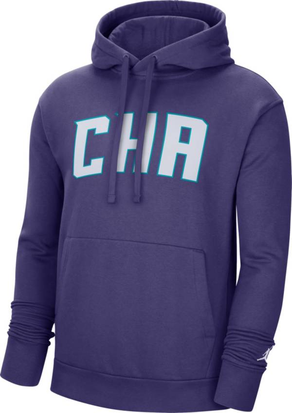 Jordan Men's Charlotte Hornets Purple Statement Pullover Hoodie product image