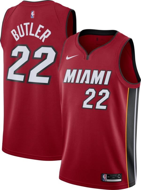 Nike Men's Miami Heat Jimmy Butler #22 Red Dri-FIT Statement Swingman Jersey product image