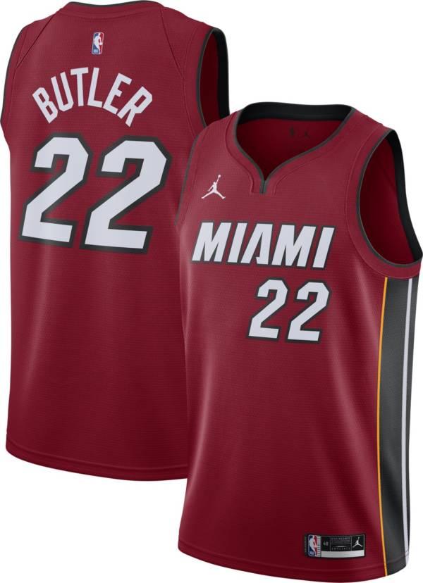 Jordan Men's Miami Heat Jimmy Butler #22 Red 2020-21 Dri-FIT Statement Swingman Jersey product image