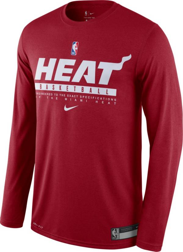 Nike Men's Miami Heat Dri-FIT Practice Long Sleeve Shirt product image