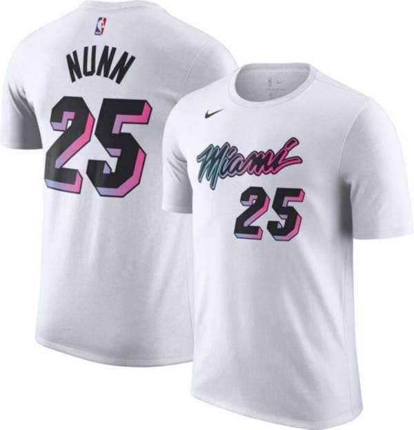 Nike Men's 2020-21 City Edition Miami Heat Kendrick Nunn #25 Cotton T-Shirt product image