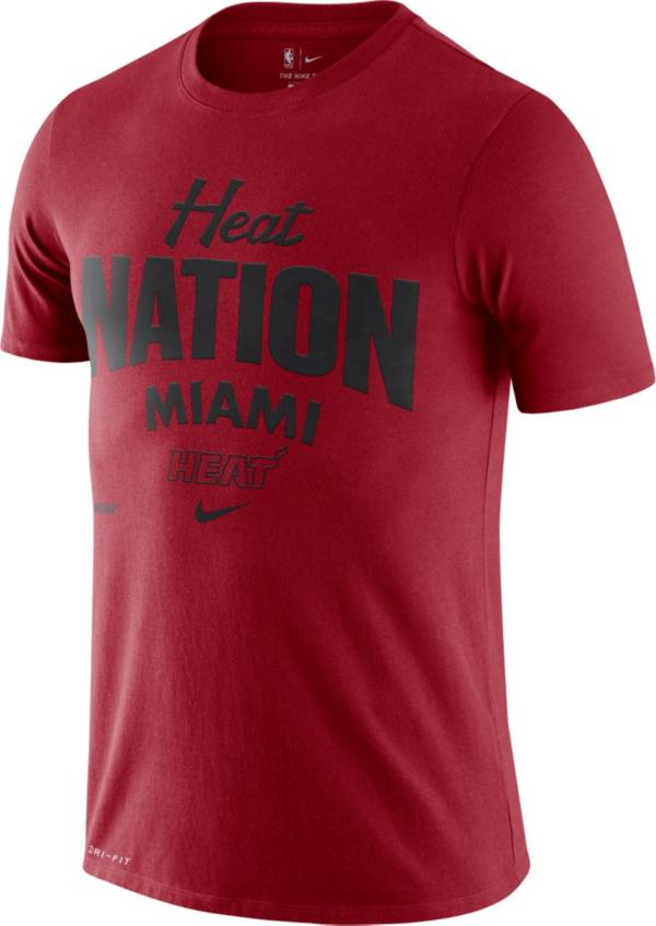 Nike Men's Miami Heat Red Dri-FIT Mantra T-Shirt product image