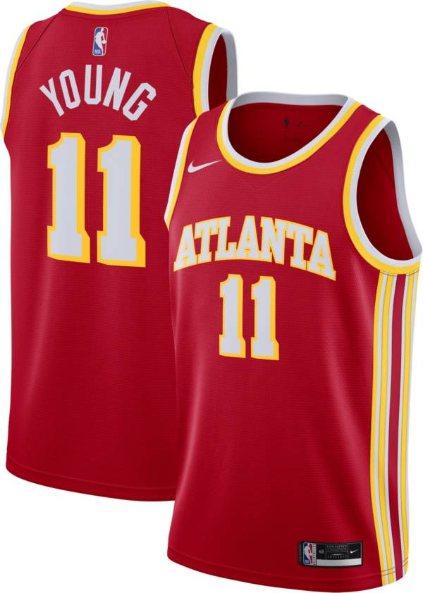 Nike Men's Atlanta Hawks Trae Young #11 Red Dri-FIT Swingman Jersey product image