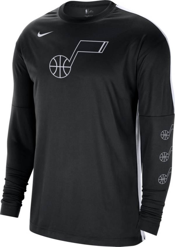 Nike Men's Utah Jazz Black Tonal Dri-FIT Long Sleeve Shooting Shirt product image
