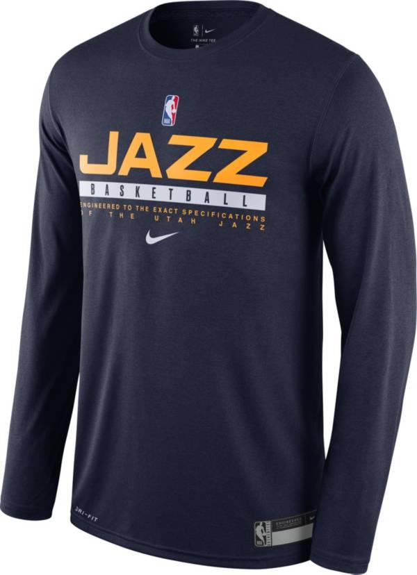 Nike Men's Utah Jazz Dri-FIT Practice Long Sleeve Shirt product image