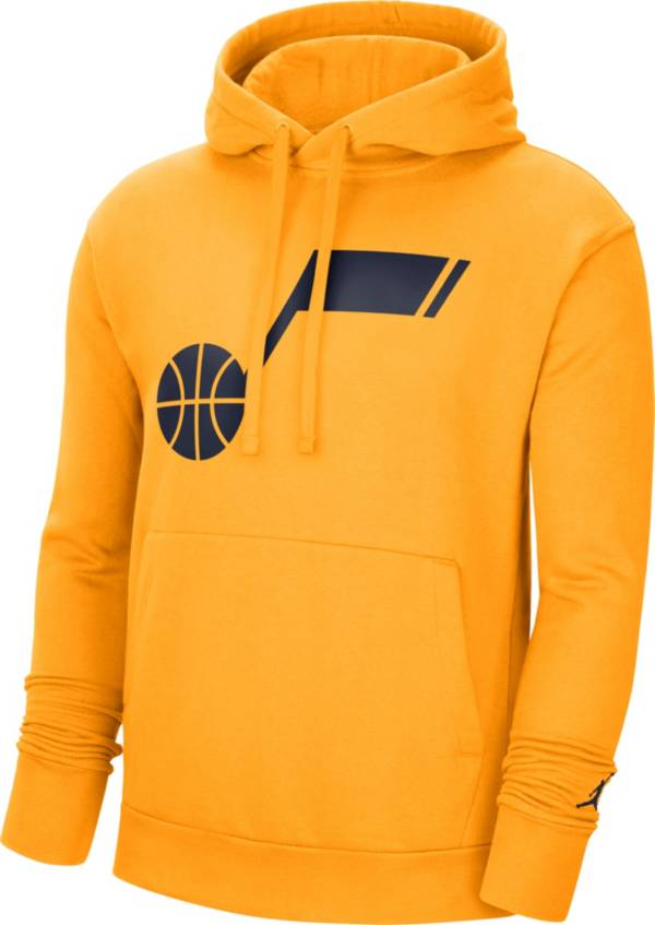 Jordan Men's Utah Jazz Yellow Statement Pullover Hoodie product image