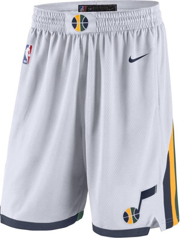 Nike Men's Utah Jazz White Dri-FIT Swingman Shorts product image