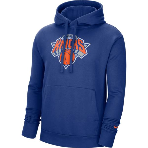 Nike Men's New York Knicks Blue Pullover Hoodie product image